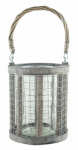Syndicate Home & Garden 7754-08-9184 Wire/Glass Lantern Planter, 6.5-In.