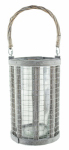 Syndicate Home & Garden 7755-06-9184 Wire/Glass Lantern, 8.63-In.