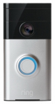 Ring/Bot Home Automation 88RG000FC100 HD Video Doorbell, Wi-Fi Enabled, Satin Nickel