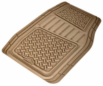 Custom Accessories 78832 Truck/SUV Floor Mats, Tan Rubber, 2-Pc.