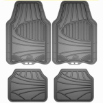 Custom Accessories 78841 Truck/SUV Floor Mat, Gray Rubber, 4-Pc.