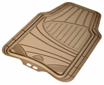 Custom Accessories 78842 Auto Floor Mats, Trimmable, Tan Rubber, 4-Pc.