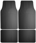 Custom Accessories 78911 Auto Floor Mats, Black Rubber, 4-Pc.