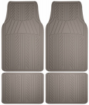 Custom Accessories 78912 Auto Floor Mats, Gray Rubber, 4-Pc.