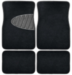 Custom Accessories 78914 Auto Floor Mats, Black Carpet With Heal Pad, 4-Pc.