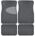 Custom Accessories 78915 Auto Floor Mats, Gray Carpet With Heal Pad, 4-Pc.