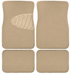 Custom Accessories 78916 Auto Floor Mats, Tan Carpet With Heal Pad, 4-Pc.
