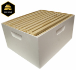Harvest Lane Honey WWBCD-101 Beekeeping Deep Brood Box, Assembled, White