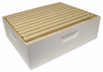 Harvest Lane Honey WWBCM-102 Beekeeping Honey Box, Assembled, White, Medium