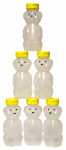 Harvest Lane Honey HONEYJAR-8-6 Honey Bear, Plastic, 8-oz., 6-Pk.