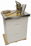 Harvest Lane Honey WWA-103 Complete Beekeeping Kit or Kitchen With Hive, Clothes & Accessories