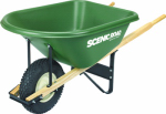 Scenic Road Mfg G6-1K Poly Wheelbarrow, Knobby Tire, 6-Cu. Ft.