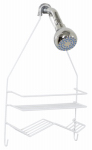 Zenith/Bathware 7518W Shower Caddy, White, Small