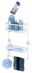 Zenith/Bathware 7617WW Shower Caddy, White, Large