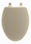 Bemis Mfg 148SLOW 006 Toilet Seat, Elongated, Whisper Close, White Wood
