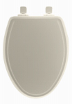 Bemis Mfg 148SLOW 346 Toilet Seat, Elongated, Whisper Close, Biscuit Wood