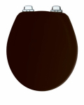 Bemis Mfg 30CHSL 047 Round Molded Wood Toilet Seat, Chrome Whisper-Close  Hinge, STA-TITE , Black