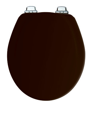 30CHSL 047 Round Molded Wood Toilet Seat, Chrome Whisper-Clo