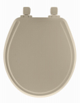 Bemis Mfg 48SLOW 006 Round Molded Wood Toilet Seat, Whisper-Close  Easy-Clean & Change  Hinge, STA-TITE , Bone