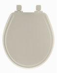 Bemis Mfg 48SLOW 346 Toilet Seat, Round, Whisper Close, Biscuit Wood