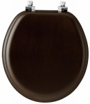 Bemis Mfg 9601CP 888 Toilet Seat, Round, Walnut Wood Veneer