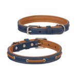 Weaver Leather 06-5891-19 Deck Dog Collar, Coral & Natural Leather, 1 x 19-In.