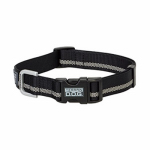 Weaver Leather 07-0855-R1 Terrain Snap-N-Go Dog Collar, Black Reflective Nylon, Small