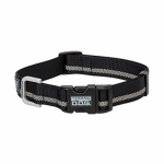 Weaver Leather 07-0856-R1 Terrain Snap-N-Go Dog Collar, Black Reflective Nylon, Medium