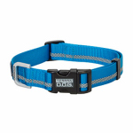 Weaver Leather 07-0856-R2 Terrain Snap-N-Go Dog Collar, Blue Reflective Nylon, Medium