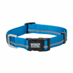 Weaver Leather 07-0857-R2 Terrain Snap-N-Go Dog Collar, Blue Reflective Nylon, Large