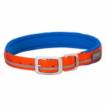 Weaver Leather 07-0861-R3-21 Terrain Reflective Lined Dog Collar, Orange Nylon, 21-In.