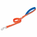 Weaver Leather 07-5620-R3-6 Terrain Dog Leash, Lined Reflective Nylon, Orange, 3/4-In. x 6-Ft.
