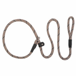 Weaver Leather 07-6105-R1-4 Terrain Dog Slip Leash, Black & Gray Braided Nylon, 1/2-In. x 4-Ft.