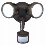 Cooper Lighting MST18R17L LED Security Light, Twin Head, 180-Degree Motion, Bronze