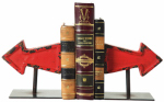 Creative Co Op DA0899TV Bookend Set, Metal Arrows, 5-3/8-In., Pr.