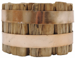 Creative Co Op DA4468 Pillar Candle Holder, Wood, 3-1/8-In.