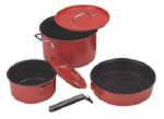 Coleman 2000016422 Cookware Set, Red, 6-Pc.