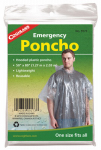 Coghlans 9173 Emergency Poncho, Clear Polyethylene, One Size