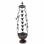 Alpine MAZ256 Hanging Cup Tier Layered Floor Fountain, 41-In.