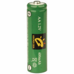Jiawei Technology BT-NM-AA-600-D2 AA Solar Rechargeable Batteries, 600mAh Ni-Mh, 2-Pack