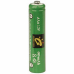 Jiawei Technology BT-NM-AAA-600-D2 AAA Solar Rechargeable Batteries, 600mAh Nickel Metal Hydride, 2-Pack