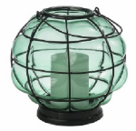 Northern International GL28648TL Teal Battery Operated Glass Lantern