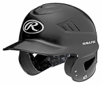 Rawlings Sport Goods RCFH-B Cool Flo Batting Helmet, Black