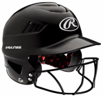 Rawlings Sport Goods RCFHFG-B Cool Flo Batting Helmet With Baseball Mask, Black