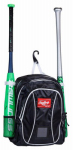 Rawlings Sport Goods YBKPK-B/W Youth Backpack, Black/White