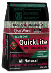 Black Diamond Charwood BDC1X CharWood QuickLite Premium Hardwood Lump Charcoal, 0.24 Cu. Ft.