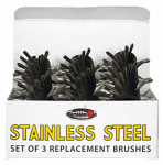 Grillbot GBS202-STEEL Stainless Steel Replacement Brush, 3-Pack