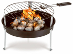 Blue Rhino Global Sourcing CBT1601G Portable Charcoal Grill + 1.2-Lbs. of Charcoal, 12-In.