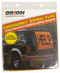 Orion Safety Products 458 Emergency Signal Flag, Orange Vinyl, 2.5 x 2.5-Ft.