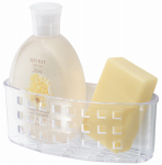 Interdesign 23600 Bath Soap Caddy, Suction, Clear Plastic